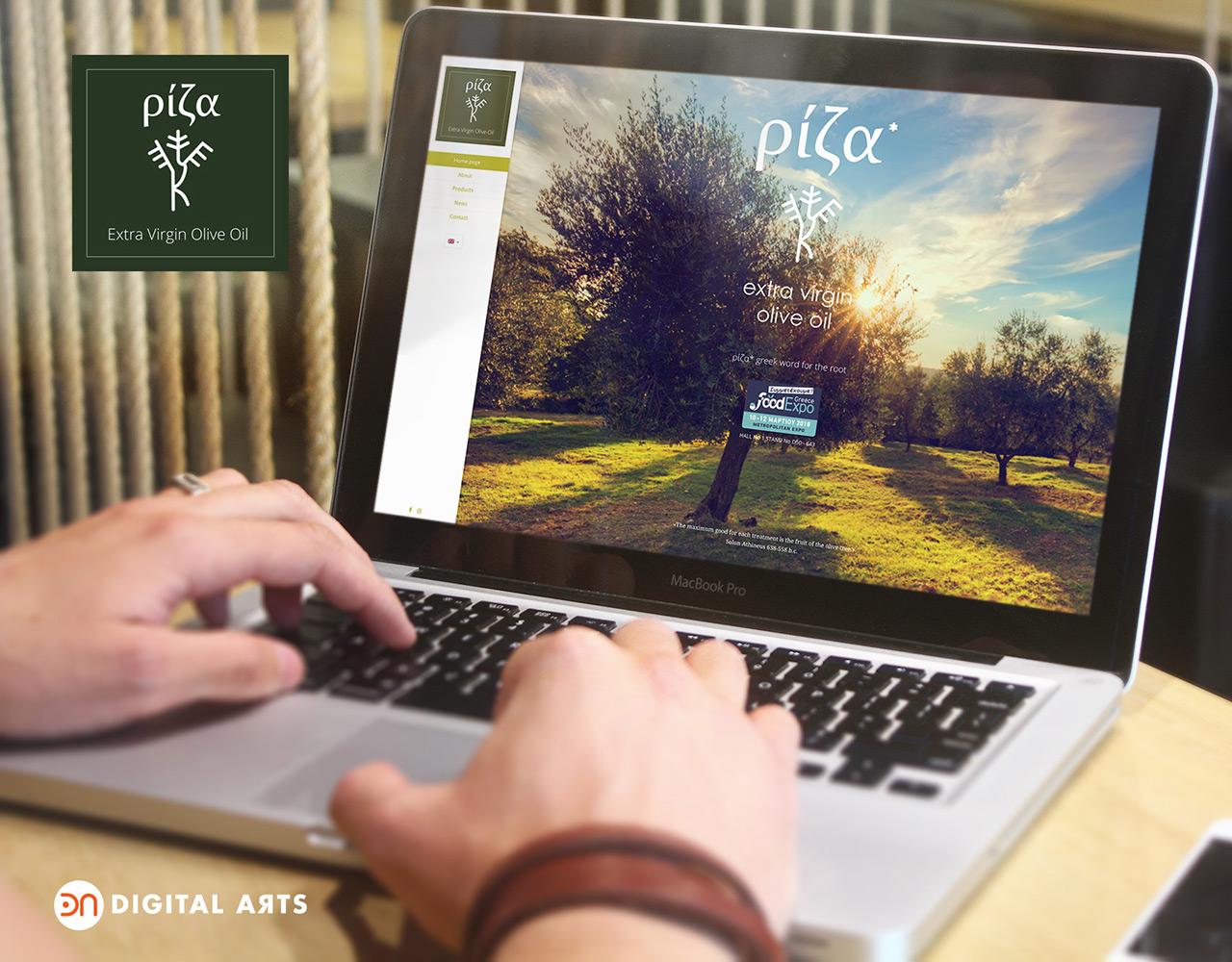 Ρίζα έξτρα παρθένο ελαιόλαδο, κατασκευή ιστοσελίδας