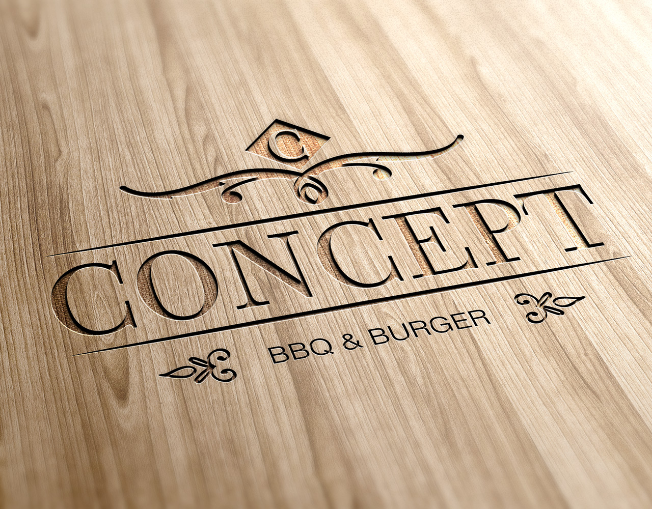 Concept burgers, σχεδιασμός λογοτύπου